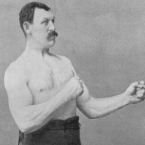 <h2>Overly Manly Man</h2>